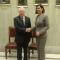 تحادث السيد عبد القادر بن صالح رئيس مجلس الأمة يوم الجمعة 12 ماي 2017 بالعاصمة الايطالية روما على هامش أشغال الجمعية البرلمانية للاتحاد من اجل المتوسط مع رئيسة غرفة النواب الايطالية السيدة لورا بولدريني.