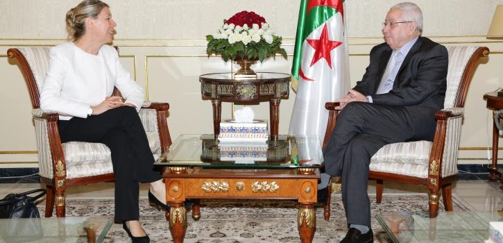 رئيـس مجلــس الأمّـة يستقبـل سفيرة جمهوريـّة    النّمسا بالجزائر
