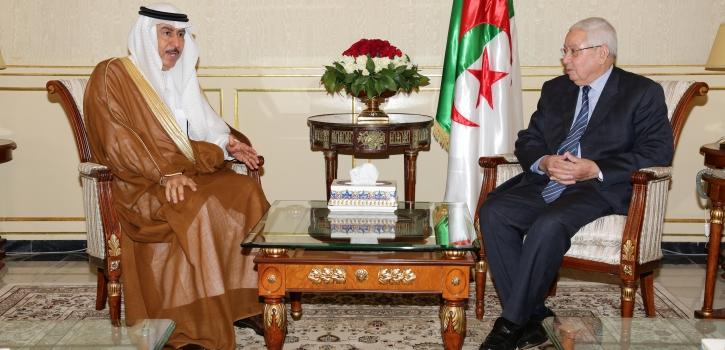 رئيـس مجلــس الأمّـة يستقبـل سفير المملكة العربيّة السُّعوديّة بالجزائر