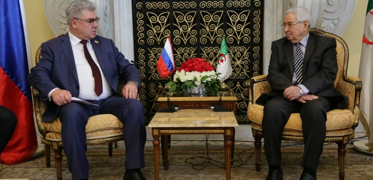 رئيـس مجلس الأمّة يستقبل رئيـس لجنة الدّفاع والأمن بالمجلس الفيدراليّ للجمعيّة الفيدراليّة لروسيا