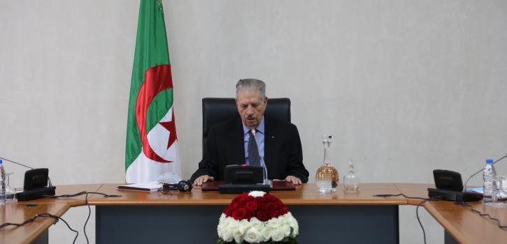 اجتماع مكتب مجلس الأمة  الموسع لرؤساء المجموعات البرلمانية والمراقب البرلماني بتاريخ 31 مارس 2020