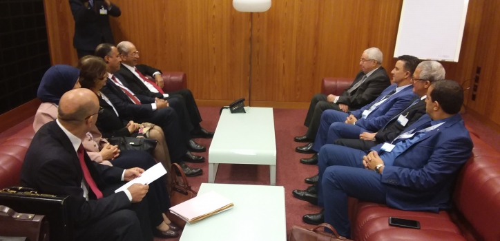 مباحثات رئيس مجلس الأمة، السيد عبد القادر بن صالح على أشغال الجمعية العامة139  للإتحاد البرلماني الدولي