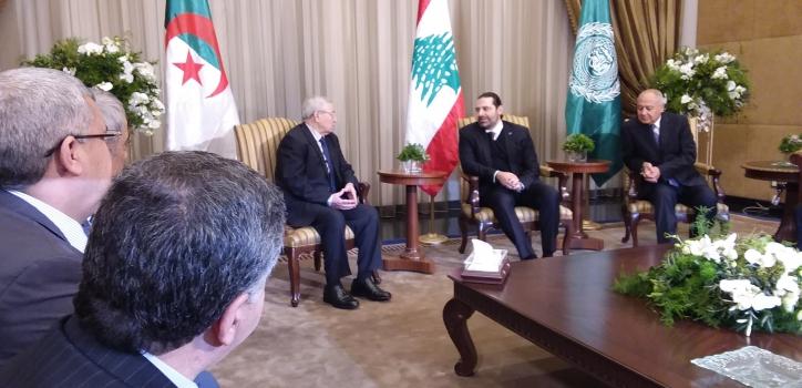 رئيس مجلس الأمة يصل إلى بيروت ممثلا لفخامة رئيس الجمهورية