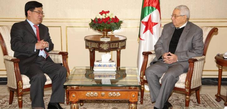 رئيـس مجــلــس الأمّـة يستـقبـل سفير جمـهـوريـّة الصين الشّـعـبيّة بالجزائر