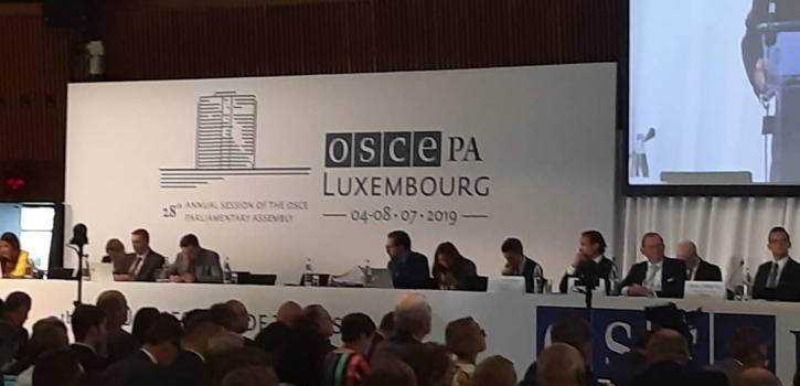 مشاركة الوفد البرلماني في إجتماع الدورة السنوية للجمعية البرلمانية لمنظمة الأمن و التعاون بأوروبا