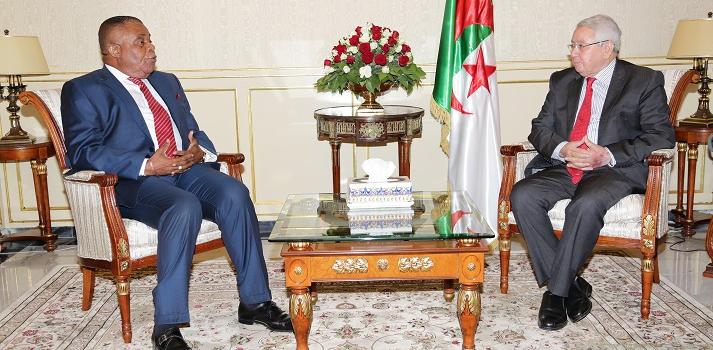 استقبل السيد عبد القادر بن صالح ، رئيس مجلس الأمة اليوم الثلاثاء 31 أكتوبر 2017، بمقر المجلس، السيد   Jean  Pierre Louyebo      ، سفير جمهورية الكونغو بالجزائر