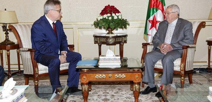 استقبل السيد عبد القادر بن صالح ، رئيس مجلس الأمة اليوم  الخميس 21 سبتمبر 2017، السيد  Igor Beliaev  ، السفير الجديد لفيدرالية روسيا بالجزائر